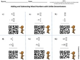 Adding and Subtracting Mixed numbers Unlike Denominators Q