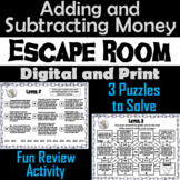 Adding and Subtracting Money Word Problems Activity: Escape Room Math Game