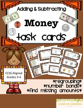Adding and Subtracting Money - Task Cards