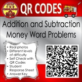 Adding and Subtracting Money Word Problems Task Cards with QR Codes