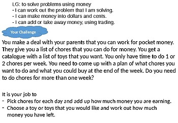 Adding and Subtracting Money in Real Life Situations