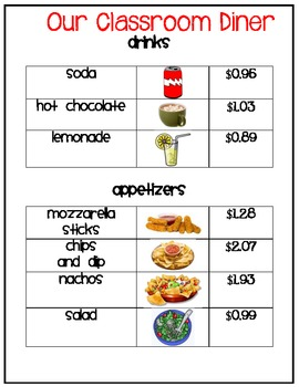Adding and Subtracting Money using a Menu