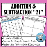 "ADDING AND SUBTRACTING MULTI-DIGIT NUMBERS ""21"" (with Regrouping)"