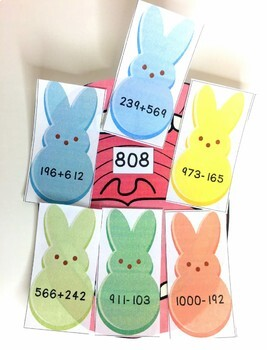 Easter Adding and Subtracting Multi-Digit Numbers