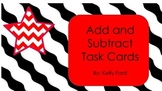 Adding and Subtracting Multi Digit Numbers Chevron Task Cards