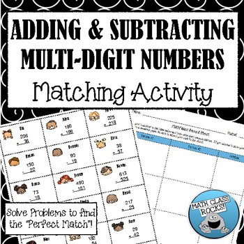 Adding and Subtracting Multi-Digit Numbers Cut & Paste Mat