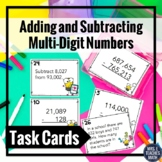 Adding and Subtracting Multi-Digit Numbers Task Cards 4.NBT.4