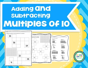 Adding and Subtracting Multiples of 10 {1st Grade Common Core Aligned}