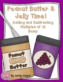 Adding and Subtracting Multiples of 10 (Mental Math) Bump Game -PB&J