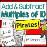 Add and Subtract Tens   Pirate Math Activities