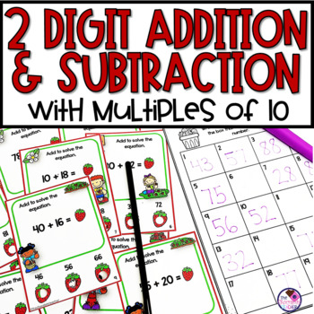 Adding and Subtracting Multiples of 10 Activity & Worksheets