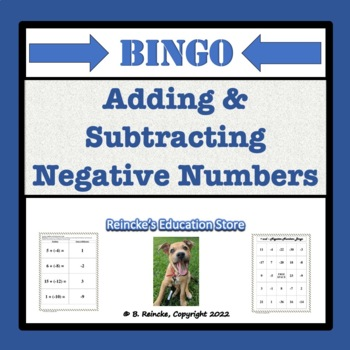 Adding and Subtracting Negative Numbers Bingo (30 pre-made