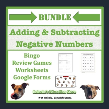 Adding and Subtracting Negative Numbers Bundle