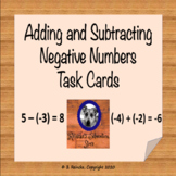 Adding and Subtracting Negative Numbers Task Cards