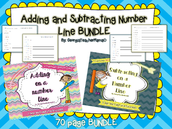 Adding and Subtracting Number Line BUNDLE