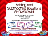 Adding and Subtracting One-Step Equations Showdown Game