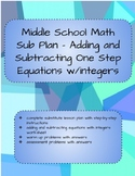 Substitute Plan - Adding and Subtracting One Step Equation