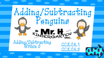 Adding and Subtracting Penguins  (Interactive Powerpoint!!) Always $1.00!!