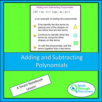 Algebra:  Adding and Subtracting Polynomials