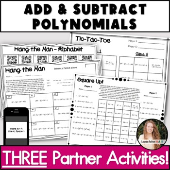 Adding And Subtracting Polynomials Fun Worksheets | Worksheets