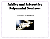 Adding and Subtracting Polynomials Dominoes