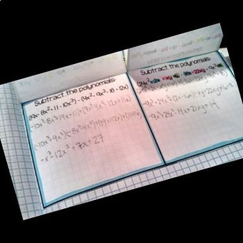 Adding and Subtracting Polynomials: Interactive Notebook Page