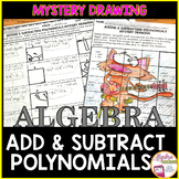 Adding and Subtracting Polynomials Mystery Drawing