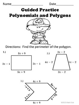 Adding and Subtracting Polynomials No Prep Lesson