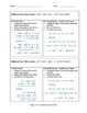 Adding and Subtracting Polynomials Scaffold Notes