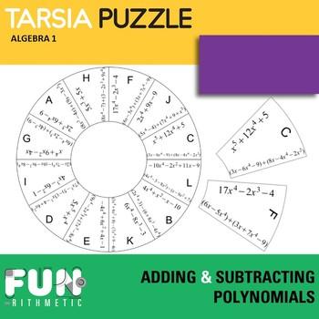 Adding and Subtracting Polynomials Tarsia Puzzle Freebie