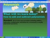 Adding and Subtracting Polynomials by Katie Hill