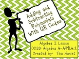 Adding and Subtracting Polynomials with QR Codes A-APR.A.1