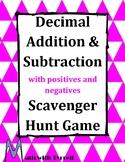 Decimal Addition and Subtraction Scavenger Hunt Game #2