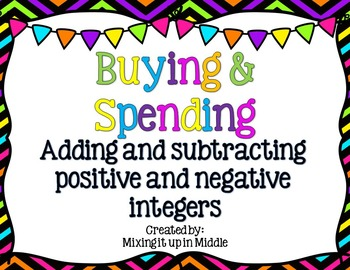 Adding and Subtracting Positive and Negative Numbers-A Rea