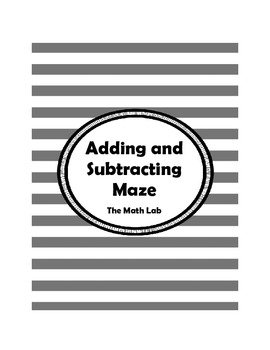 Adding and Subtracting Positive and Negative Numbers Maze