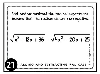 Adding and Subtracting Radical Expressions