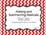 Adding and Subtracting Radical - Task Cards