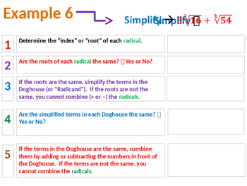 Adding and Subtracting Radicals Summary