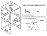 Adding and Subtracting Rational Expressions Game: Math Tarsia Puzzle