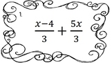 Adding and Subtracting Rational Expressions Task Cards