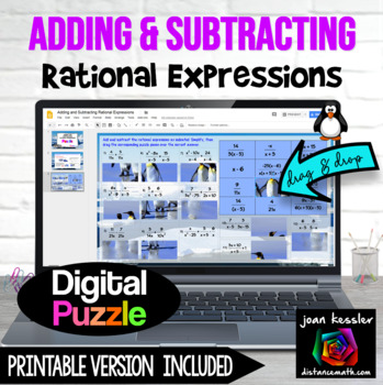Adding and Subtracting Rational Expressions with Google™ Slides