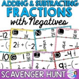 Adding and Subtracting Rational Numbers: Fractions Scavenger Hunt