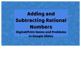 Adding and Subtracting Rational Numbers Google Slides Note