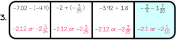 Adding and Subtracting Rational Numbers Odd Man Out