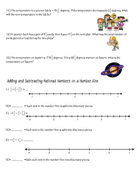 Adding and Subtracting Rational Numbers Practice 7th Math