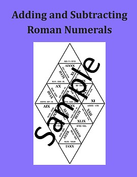 Adding and Subtracting Roman Numerals – Math Puzzle