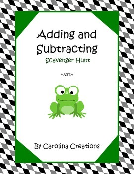 Adding and Subtracting Scavenger Hunt - 4.NBT.4