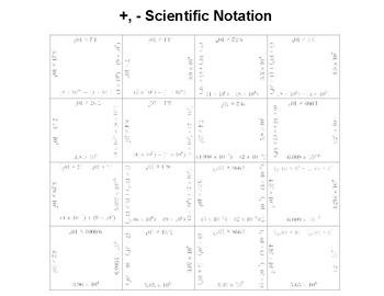 adding subtracting scientific notation