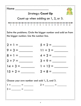 Adding & Subtracting Strategies to Support Common Core & Promote Fact Fluency