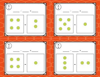 Adding and Subtracting Task Card Activities for Kindergarten or 1st Grade Math